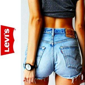 Levi's 505 Vintage 90s Cut Off Jean Shorts Size 10
